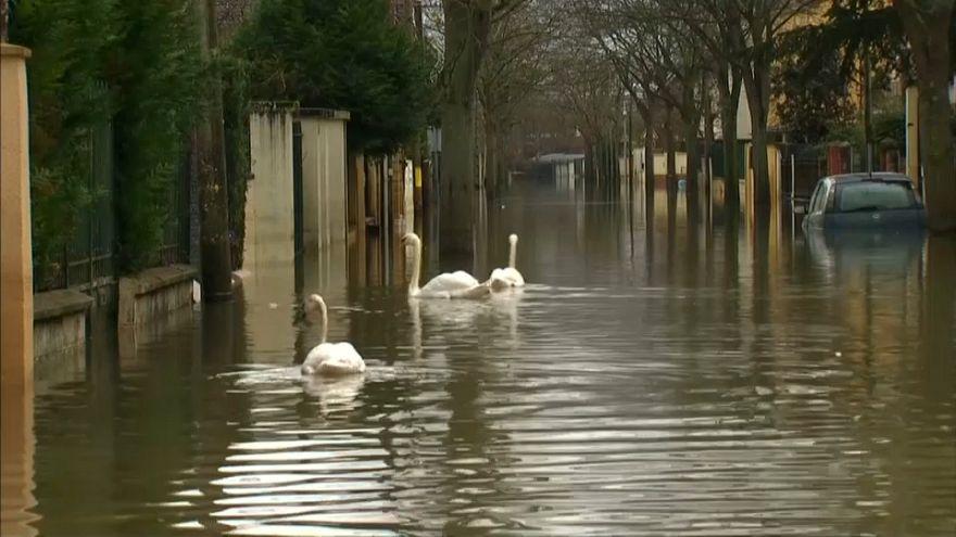 Fransa'daki aşırı yağışlar hayatı olumsuz etkiliyor
