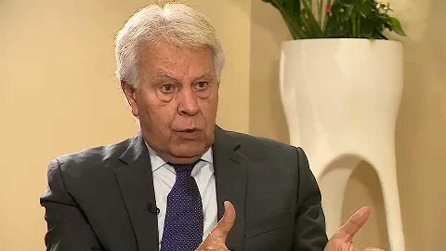 """""""O pior cancro na Europa é a mistura de nacionalismos e populismos"""", diz Felipe González"""