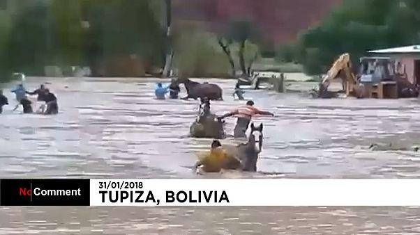 Bolivya'da sel alarmı