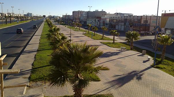 شارع في المنطقة الجنوبية من المملكة العربية السعودية