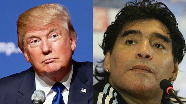 ویزای آمریکای مارادونا بدلیل دشنام دادن به ترامپ رد شد