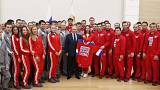 Vladimir Putin meets Russian athletes competing at Pyeongchang Winter Games