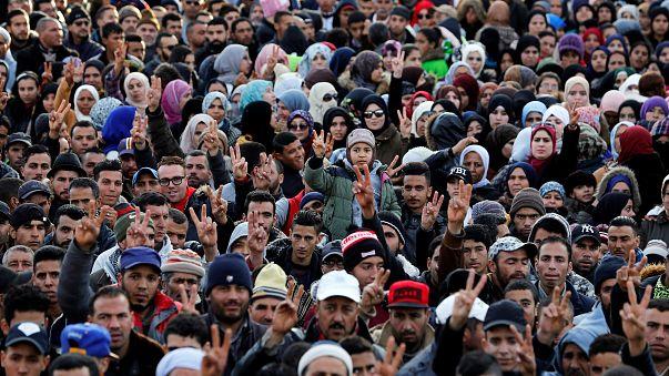 المتظاهرون نددوا بالظروف الاقتصادية الصعبة بجرادة ديسمبر الماضي