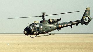 Un helicóptero Gazelle del Ejército de Tierra francés