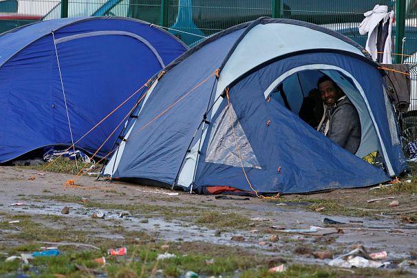 پناهجویان در بندر کاله فرانسه