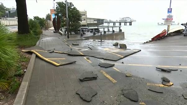 Turistas isolados na Nova Zelândia.