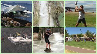 بدون شرح هفته؛ از افتتاح طویلترین زیپلاین جهان تا مسابقه پرتاب ماهی