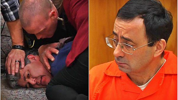 پدر سه دختر قربانی در دادگاه به لری نصار حمله کرد