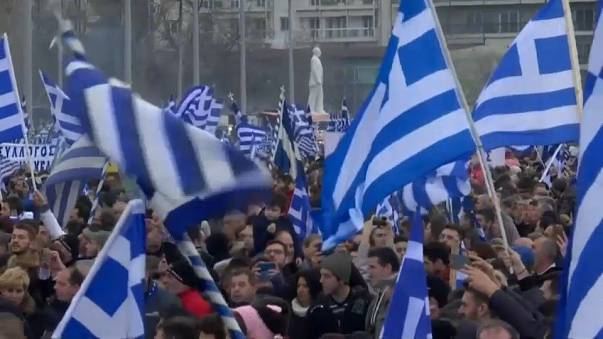 Greeks rally in Thessaloniki over Macedonian name row