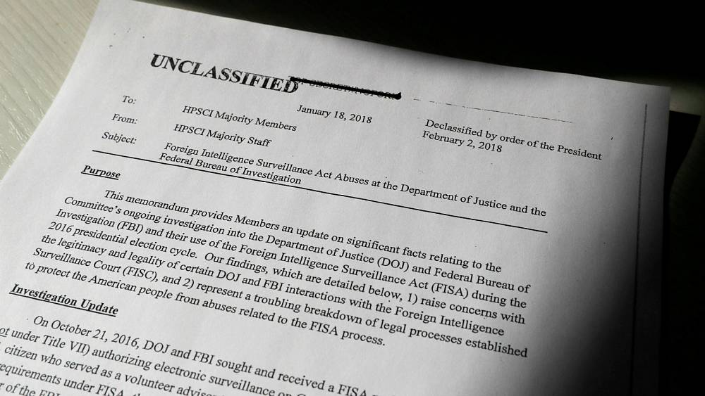 Trump authorises release of classified memo alleging misconduct by ...