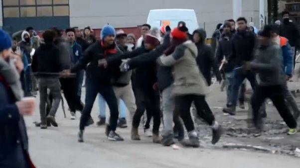Столкновения в Кале