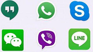 أيقونات بعض مواقع وتطبيقات التواصل الاجتماعي