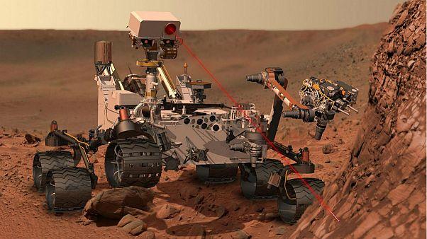 Curiosity at Work on Mars