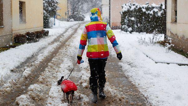 На Балканы обрушились снегопады