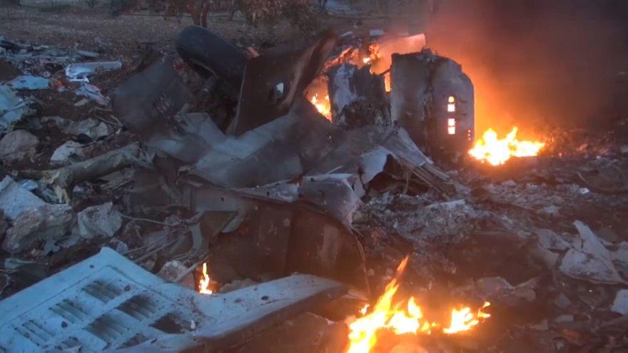 Muere un piloto ruso derribado en la región siria de Idleb