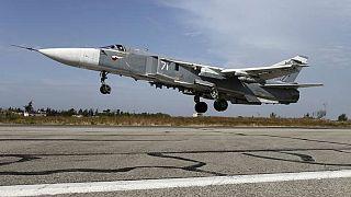 معارضون سوريون  يسقطون طائرة روسية من نوع سوخوي في إدلب