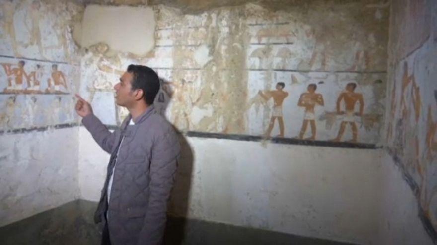 4400 éves sírkamrára bukkantak Egyiptomban