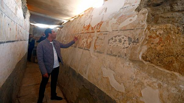 Egipto presenta el descubrimiento de una tumba de una alta funcionaria de 4.400 años