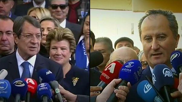 Krıbrıslı Rumlar cumhurbaşkanlığı seçimlerinin ikinci turu için sandığa gidiyor