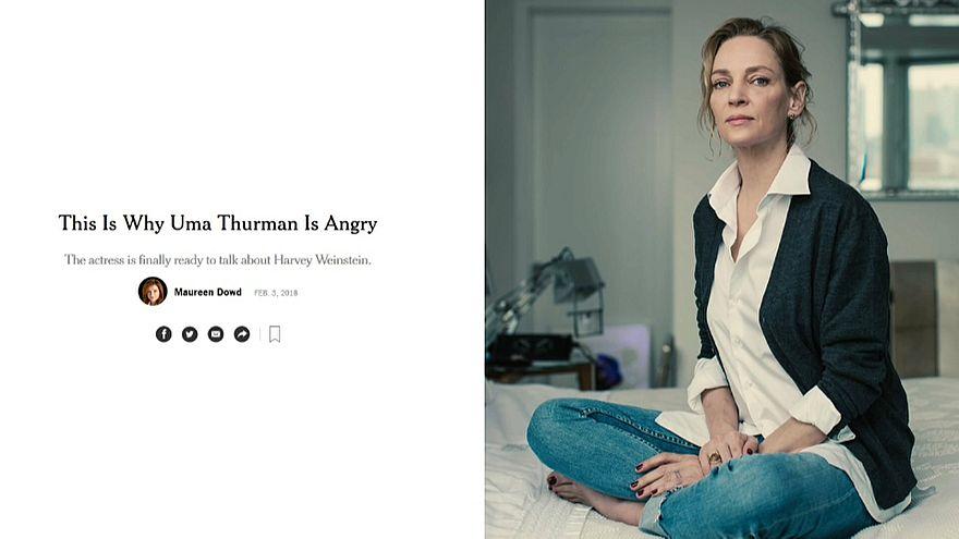 """Uma Thurman rompe il silenzio: """"Harvey Weinstein aggredì anche me"""""""