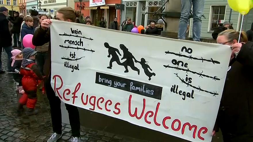 Rival rallies highlight migrant tensions in German city