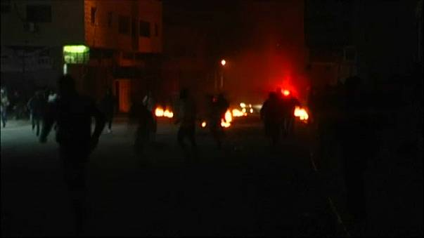 Riot in the West Bank town of Burqin
