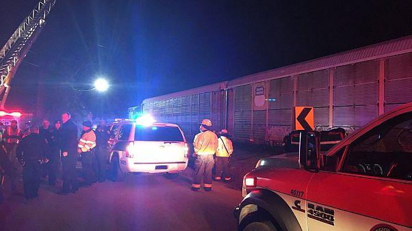 Столкновение поездов в США, есть жертвы