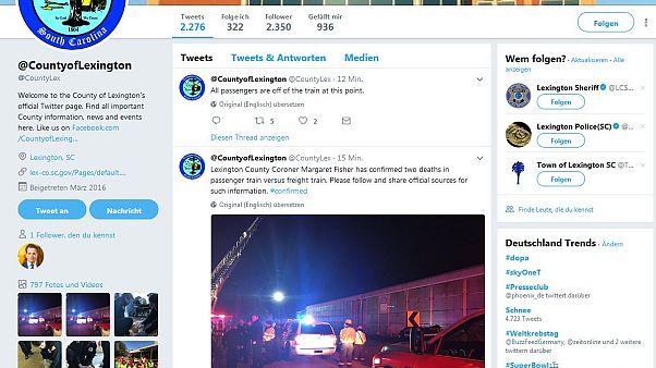 Zugunglück in South Carolina: Zwei Tote
