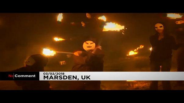 Winter battle Spring. The Imbolc fire festival