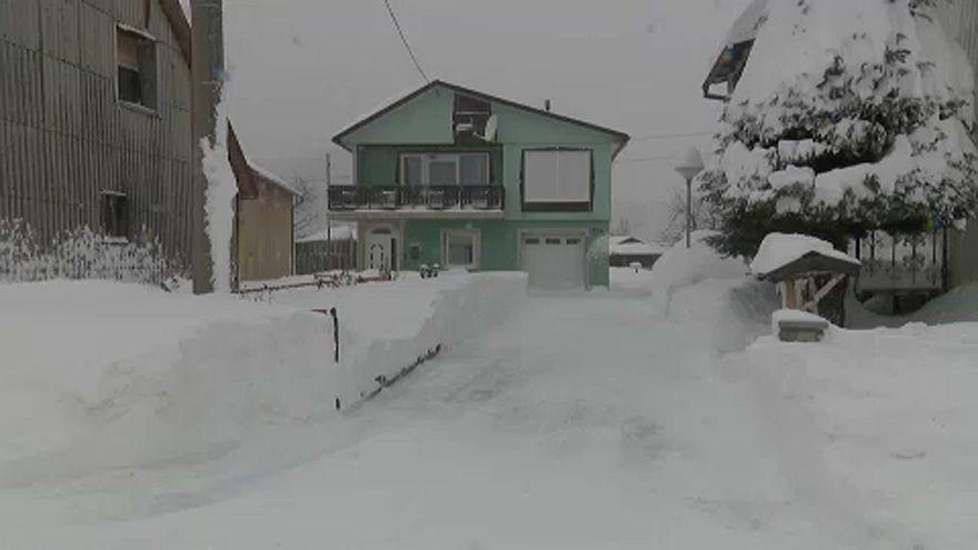 Egyméteres hó esett Horvátországban