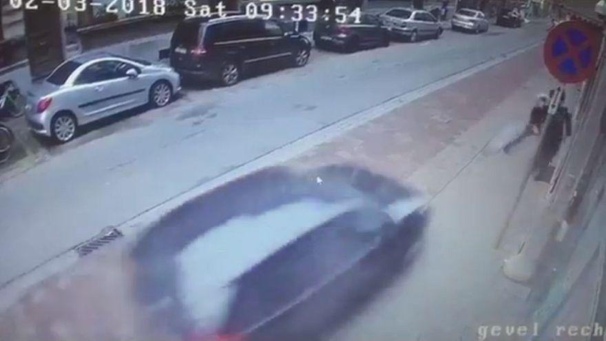 Yahudi aileyi ezme girişiminde bulunan sürücü yakalandı