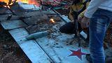 مواقع روسية تنشر فيديو تقول إنه لاشتباك الطيار الروسي مع مقاتلي المعارضة قبيل مقتله