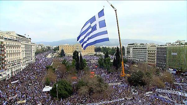 """Акция в Афинах: """"Македония - это Греция"""""""