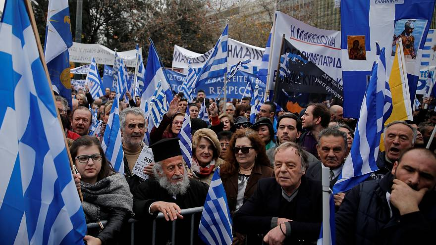 """""""Mazedonien ist griechisch"""": Hunderttausende demonstrieren in Athen"""