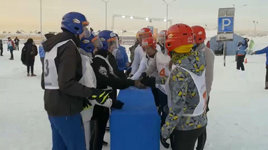 Annual snow battle gets underway in Russia