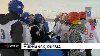 شاهد: معارك ضارية بمنافسات كرات الثلج بروسيا