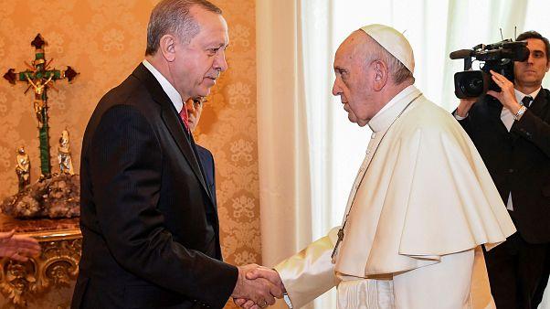 Ιστορική συνάντηση Πάπα - Ερντογάν στο Βατικανό