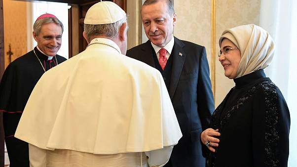 Turkey's Erdogan makes historic visit to Vatican