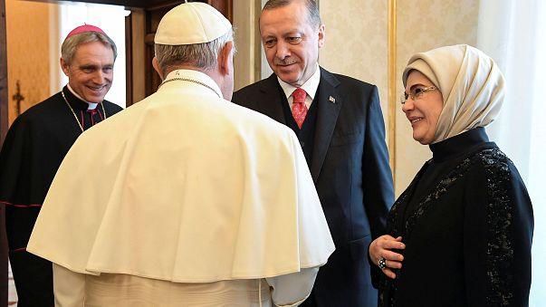 Turkey's Erdogan makes historic visit to Vatican