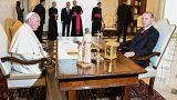 Cumhurbaşkanı Erdoğan Vatikan'da Papa ile görüştü