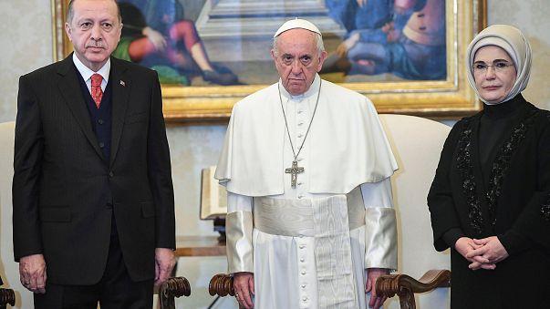 Rencontre crispée entre le Pape et Erdogan
