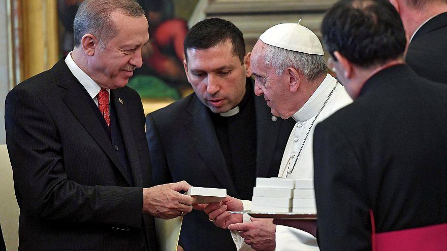 Papa recebe Erdogan no Vaticano