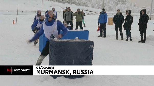 Batalhas de neve na Rússia