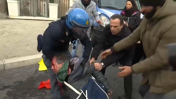 Erdogan a Roma, la protesta dei curdi