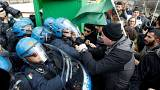 احتجاجات فى روما على زيارة أردوغان