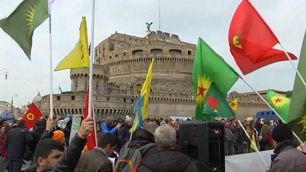 Erdoğan'a Vatikan'da protesto