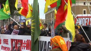 Протесты в Риме из-за визита Эрдогана