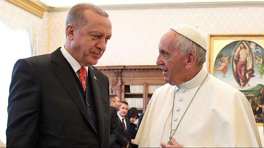 دیدار رئیس جمهوری ترکیه از واتیکان