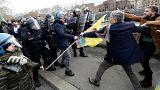 A török elnök ellen tüntettek Olaszországban