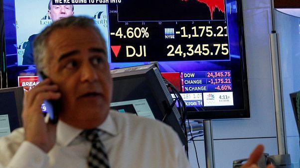 Stock market turmoil: European markets tumble after Dow Jones takes biggest hit since financial crisis